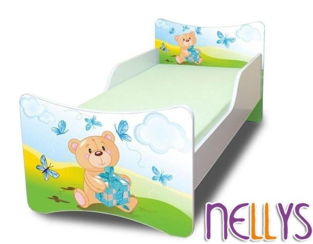 Dětská postel se zábranou Míša Dáreček New - 180x80 cm