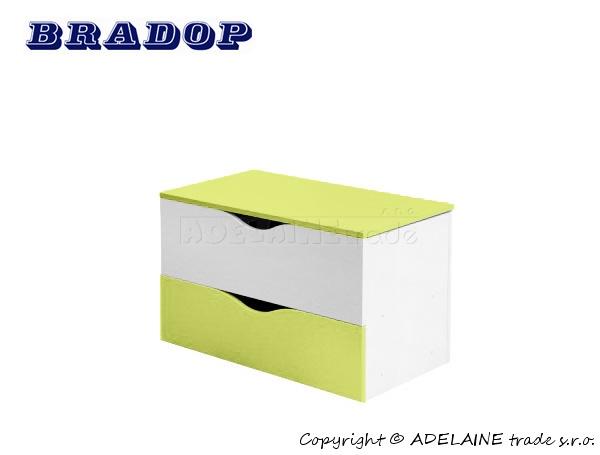 Box/krabice na hračky Casper Bradop - zelený
