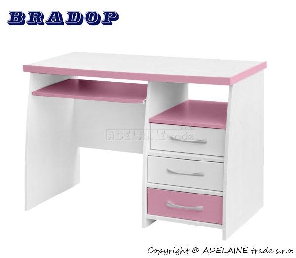 Psací stůl CASPER - Bradop JIM creme/pink