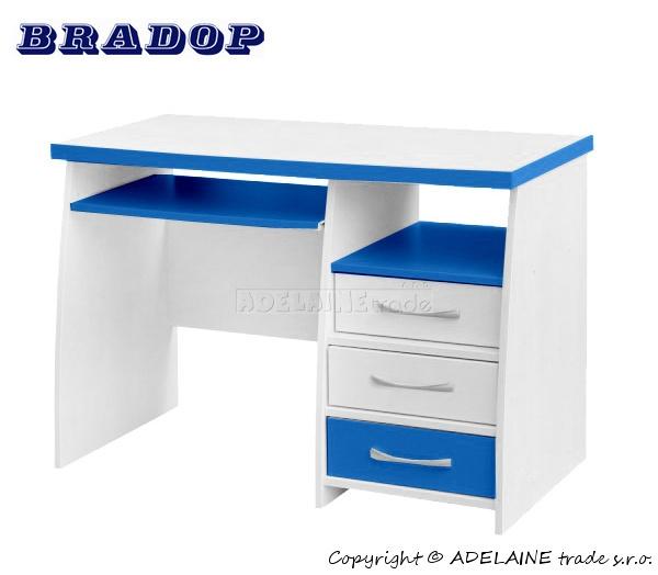 Psací stůl CASPER - Bradop JIM creme/blue