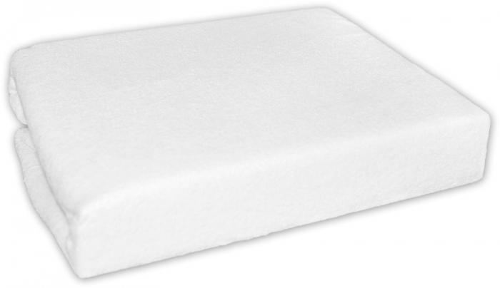 Froté prostěradlo do postele - bílé