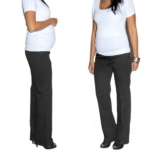 Elegantní těh. kalhoty letní - černé