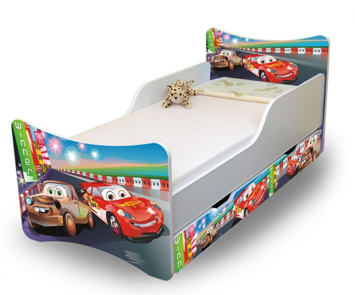Dětská postel a šuplík/y Auta 2. - 160x70 cm