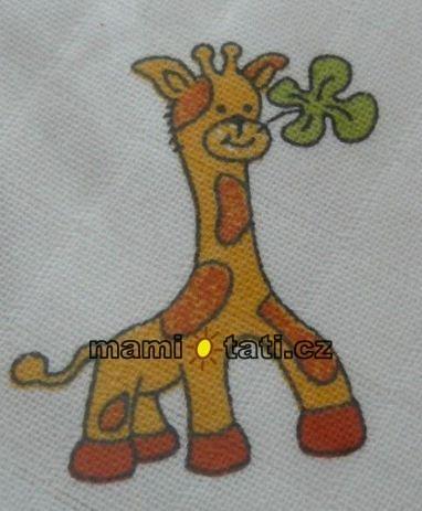 Dětská plenková osuška - Žirafa velká 1ks