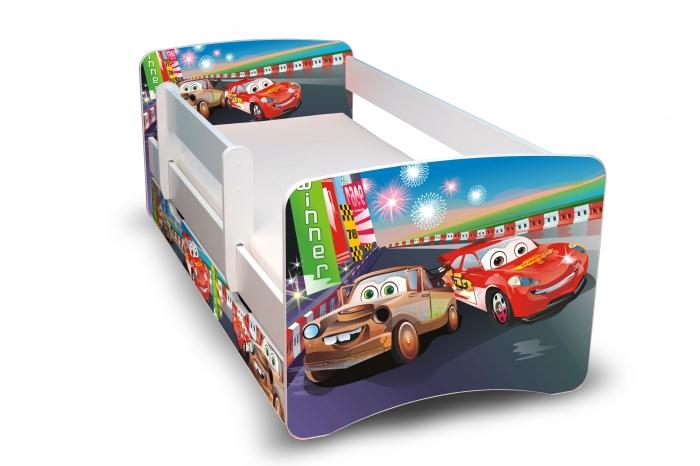 Dětská postel Auta 2 II. s šuplíkem - 160x90 cm