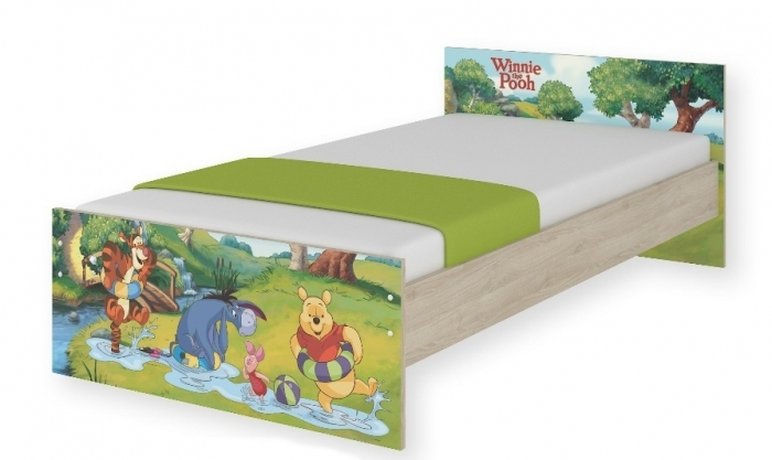 Dětská junior postel Disney 180x90cm - Medvídek PÚ a kouzelný les