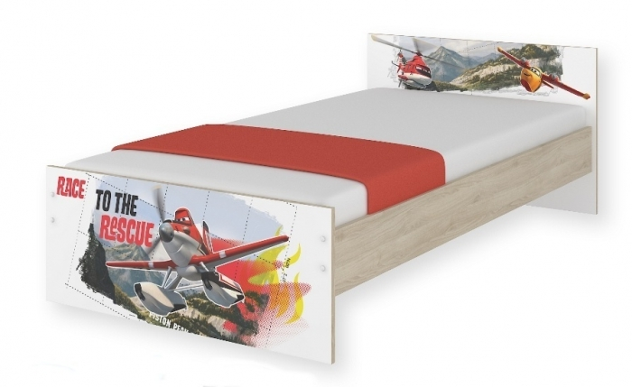 Dětská junior postel Disney 180x90cm - Letadla