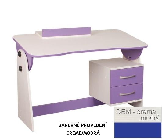 Psací stůl univerzální/sklápěcí CASPER - modrý