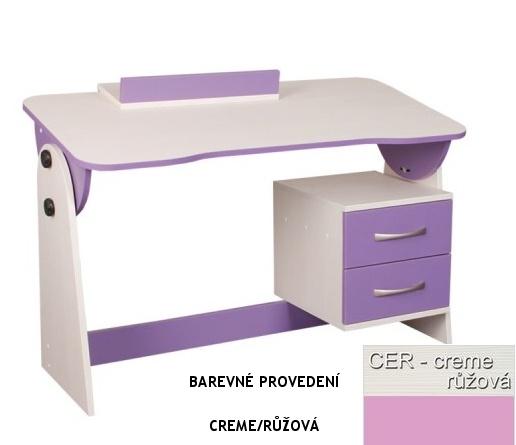 Psací stůl univerzální/sklápěcí CASPER - růžový