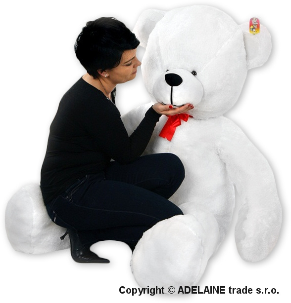 Plyšový Medvěd Baby Nellys - Bílý - 180cm