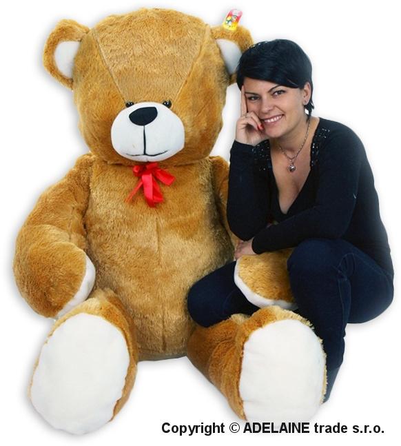 Plyšový Medvěd Baby Nellys - Sv. hnědý - 180cm
