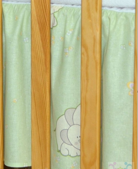 Krásný volánek pod matraci - Slon zelený