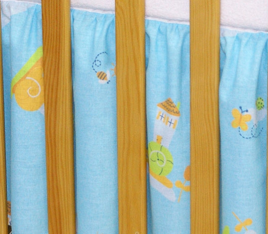 Krásný volánek pod matraci - Šnek modrý