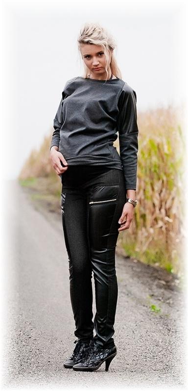 Těhotenské kalhoty LAVRA - černé