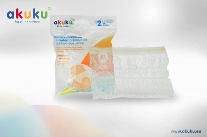 Síťkované kalhotky M, 2ks v balení Akuku