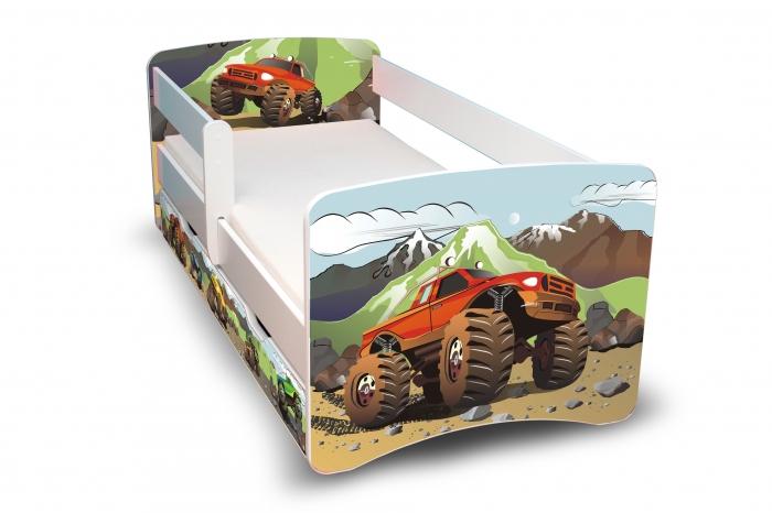 Dětská postel Auta II. s šuplíkem - 180x90 cm
