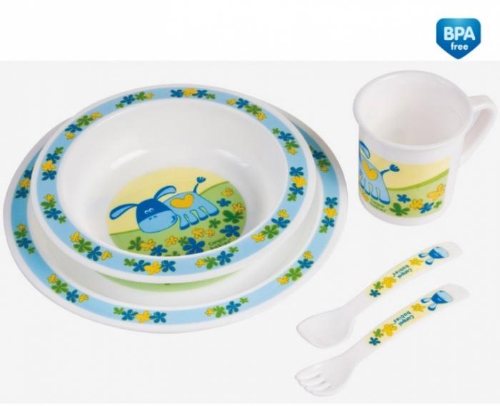 Sada nádobí Canpol Babies, modrý Oslík
