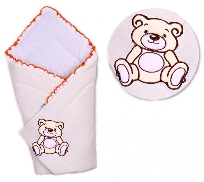 Zavinovačka Medvídek TEDDY Baby Nellys - jersey - smetanová