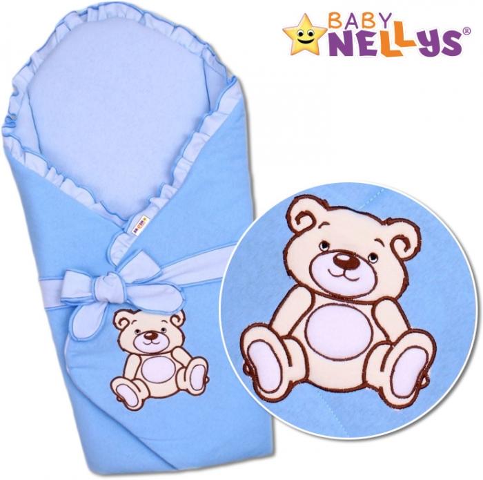 Zavinovačka s výztuží TEDDY BEAR Baby Nellys - jersey - modrá