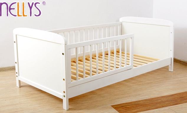 Dětská juniorská postel 140x70cm Nellys - bílá