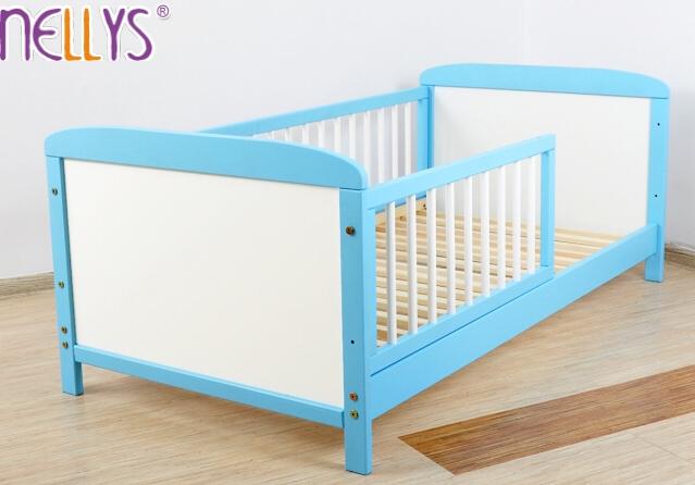 Dětská juniorská postel/postýlka Nellys - modrá/bílá