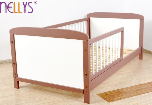 Dětská juniorská postel/postýlka Nellys - hnědá/bílá (béžově hnědá)