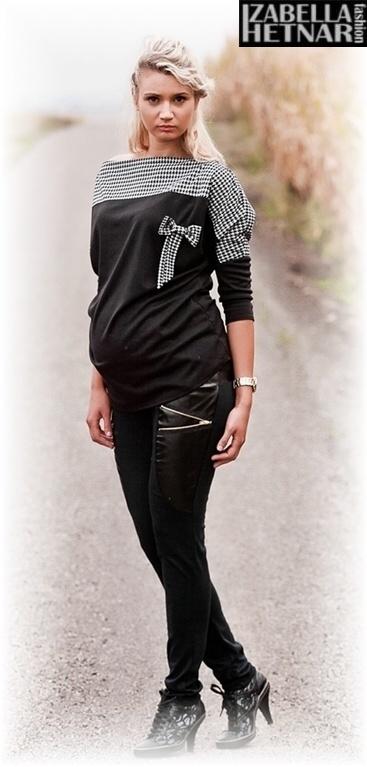 Těhotenské kalhoty ZOE - černé