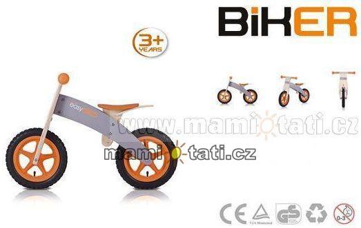 Odstrkovadlo Easy Go Biker - oranžový