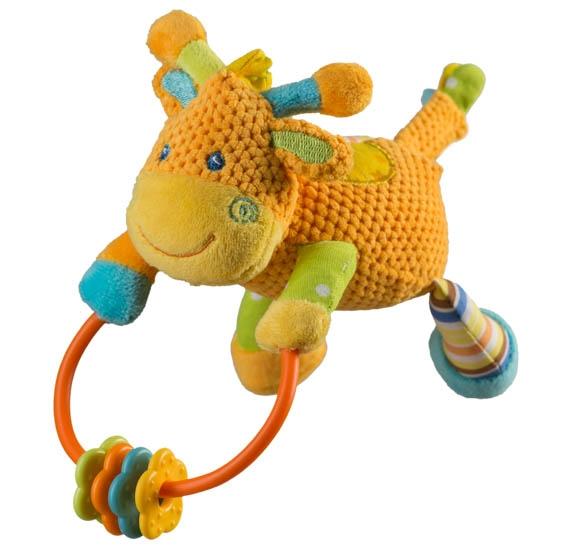 Edukační hračka s chrastítkem -žirafka