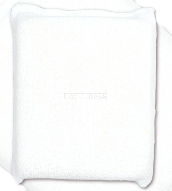 Houbička na mytí s froté obalem - bílá