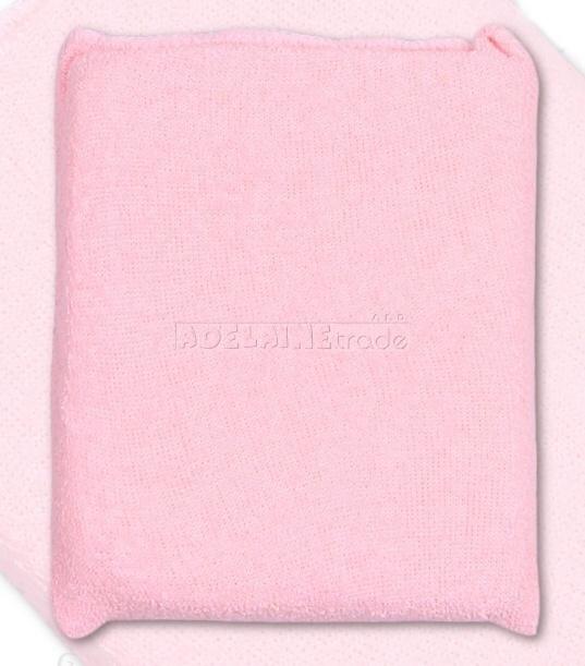 Houbička na mytí s froté obalem - růžová