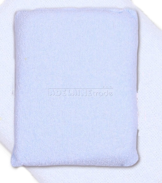 Houbička na mytí s froté obalem - modrá
