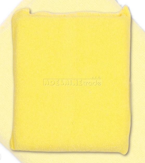 Houbička na mytí s froté obalem - krémově žlutá