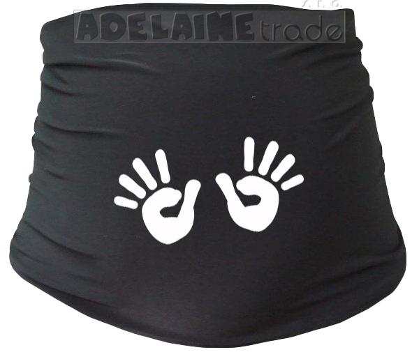 Těhotenský pás s ručičkami, vel. L/XL - černý