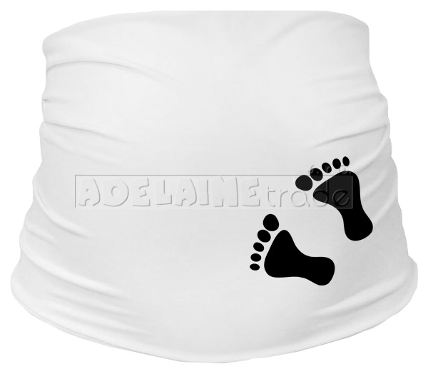 Těhotenský pás s nožičkami, vel. L/XL - bílý