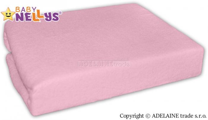 Nepromokavé prostěradlo Baby Nellys ® - Sv. růžové