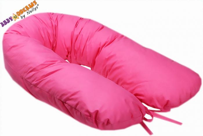 Kojící polštář - relaxační poduška Nellyska Multi - růžový
