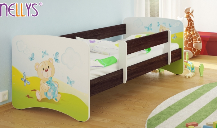 Dětská postel Nellys ® - Míša dáreček/tm.hnědá