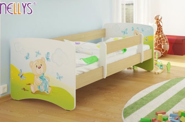Dětská postel Nellys ® - Míša dáreček/sv.hnědá