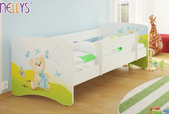 Dětská postel Nellys ® - Míša dáreček/bílá