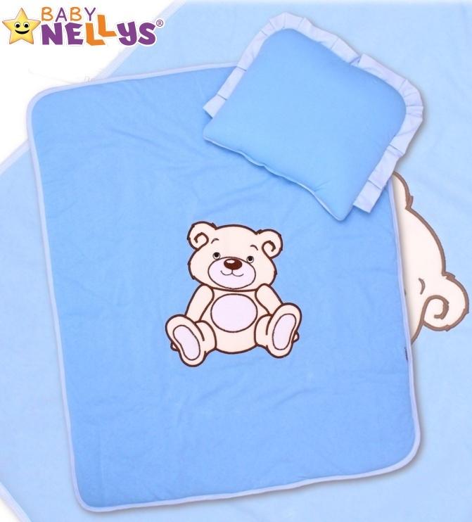 Sada do kočárku jersey Medvídek TEDDY BEAR Baby Nellys - modrá