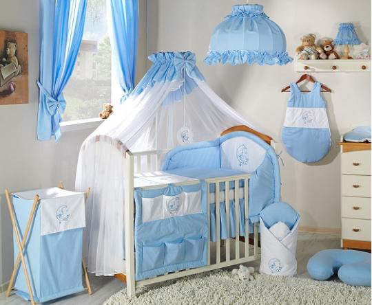 Luxusní mega set s moskytierou - Měsíček modrý