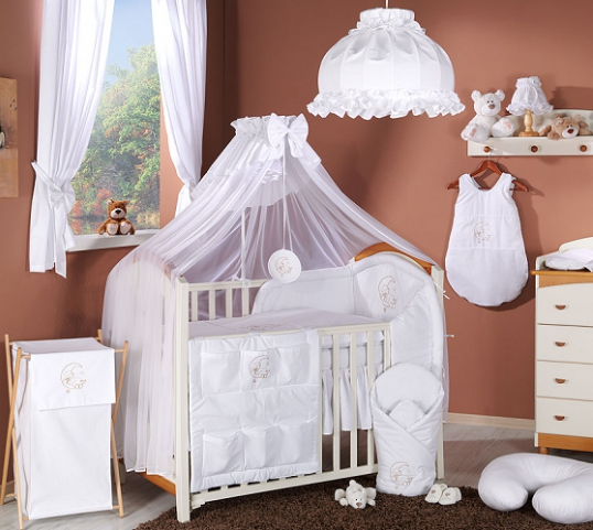 Luxusní mega set s moskytierou - Měsíček bílý