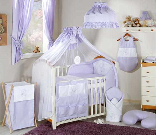 Luxusní mega set s moskytierou - Měsíček lila