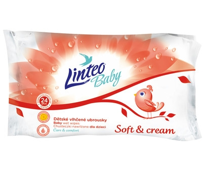Vlhčené ubrousky LINTEO BABY Soft&cream
