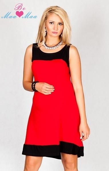 Těhotenské šaty HALINA - červené