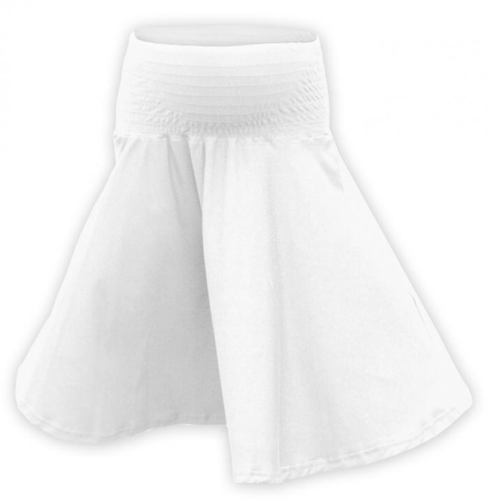 Vzdušná sukně kolová - bílá