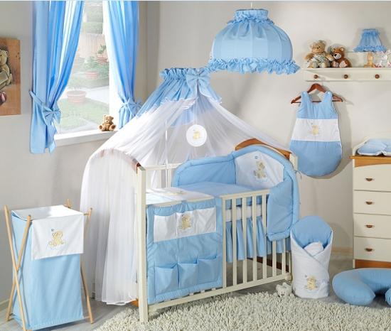 Luxusní mega set s moskytiérou - Mráček modrý