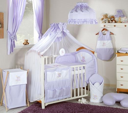 Luxusní mega set s moskytiérou - Mráček lila