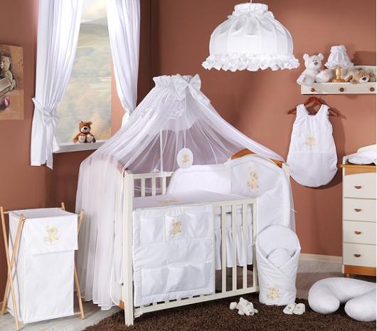 Luxusní mega set s moskytiérou - Mráček bílý